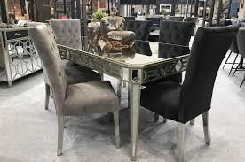 vida living rosa mirrored dining table