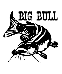 Bullhead Catfish Sticker Big Bull Fish Silhouette Vinyl Decals Catfish