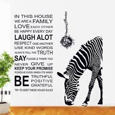 Black Zebra Wall Decal Unique Animal With English Quotes Wall Stickers Living Room Wall Decors Bird Nest Murals Thefuns On Artfire