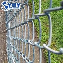China 6 X10 Vinyl Coated Cyclone Wire Fence Design For Residential China Chain Link Fence Used Chain Link Fence