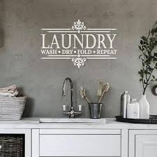 Laundry Room Decor Vinyl Decal Wash Dry Fold Eastcoast Engraving