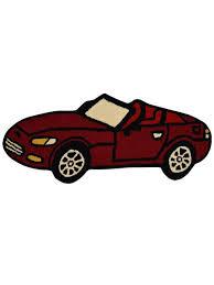 Zoomie Kids Glenville Kids Novelty Car Hand Tufted Wool Red Area Rug Wayfair