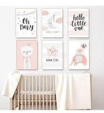 Cute Pink Nordic Nursery Wall Art Twinkle Little Star Girls Room Fine Art Canvas Prints Nordicwallart Com