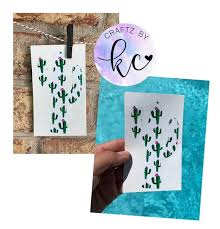 Cactus Decal Name Decal Monogram Decal Cup Decal Vinyl Etsy