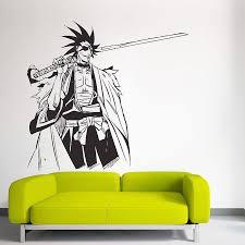 Kenpachi Zaraki From Bleach Vinyl Wall Art Decal
