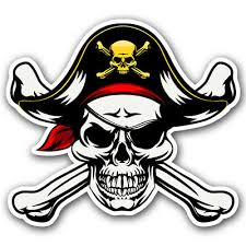 Pirate Jolly Roger Skull And Crossbones Sticker Car Truck Window Helmet Decal Ebay