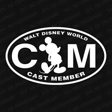 Walt Disney World Cast Member Vinyl Decal The Stickermart