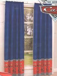 Disney Cars Lightning Mcqueen Blue Red Pair Rod Pocket Curtains Disney Cars Bedroom Decor Disney Cars Room Lightning Mcqueen Bedroom