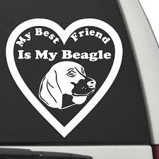 Beagle My Best Friend Is My Dog Decal Sunburst Reflections
