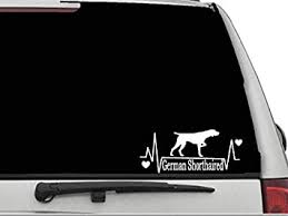 Amazon Com Decal Dan German Shorthaired Pointer Heartbeat Lifeline 3 Vinyl Die Cut Car Truck Window Decal Sticker Laptop Automotive