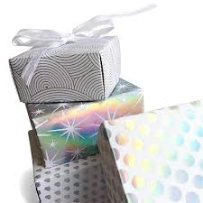 silver holographic gift bo