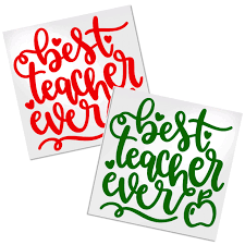 Best Teacher Decal For Cups Tumblers Or Car Decals By Adavis