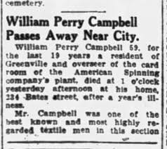 William Perry Campbell Obit Part 1 - Newspapers.com