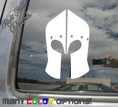 Medieval Knight Helmet Armor Middle Age Car Window Vinyl Decal Sticker 09036