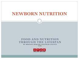 ppt newborn nutrition powerpoint