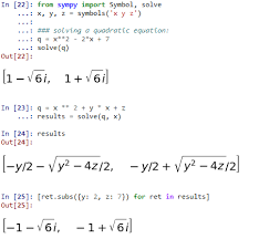 symbolic maths in python