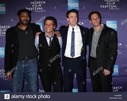 Jesse L. Martin, Mark Kassen, Chris Evans and Adam Kassen arrive for the  Tribeca Film Festival
