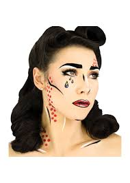 pop art makeup face makeup