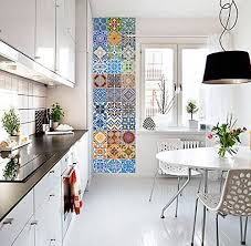 Amazon Com Tiles Stickers Decals Packs With 48 Tiles 3 9 X 3 9 Inches Portuguese Tiles Art Azulejos Wall Kitchen Stickers Home Kitchen