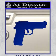 Pistol D21 Decal Sticker A1 Decals