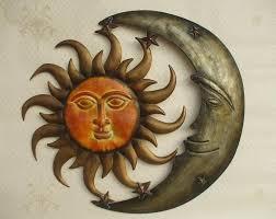 metal wall art iron sculpture sun