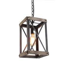 farmhouse lantern kitchen island light