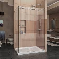 x 76 single sliding frameless shower