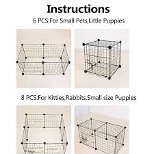 Diy Pet Cats Dogs House Indoor Fence Cage Combination Assembly Steel Wire Mesh Walmart Com Walmart Com