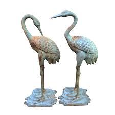 outdoor garden crane bird statue