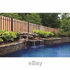 Outdoor Equipment 6 X 8 Ft Black Aluminum End Post Wood Privacy Fence Panel Kit