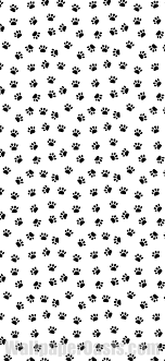 black and white paw print iphone wallpaper