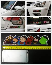 Superheroes Car Stickers