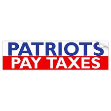 Patriots Pay Taxes Bumper Sticker Zazzle Com