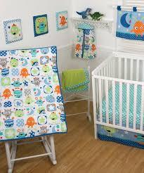green monster babies crib bedding set