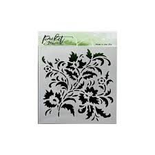 Picket Fence Studios Stencil 6in X 6in Floral Craftonline Com Au