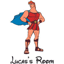 Hercules Character Strong Disney Cartoon Personalized Wall Decal Custom Vinyl Wall Art Personalized Name Baby Girls Boys Kids Nursery Daycare Room Decor Wall Stickers Decorations Size 40x20 Inch Walmart Com