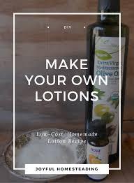 homemade lotion recipes