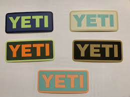 Lot Of 5 Yeti Rambler Tumbler Cooler Cup Logo Stickers Decals 4 X 1 3 4 New For Sale Online