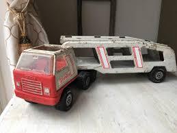 Tonka Car Transporter Toy Car Carrier White 18 Wheeler Red Etsy
