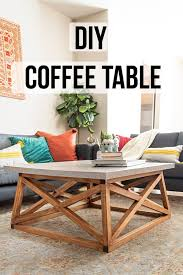 square coffee table with angled legs