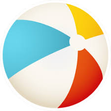 Colorful Beach Ball Sticker