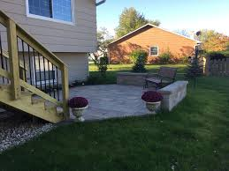wood deck with belgard paver patio