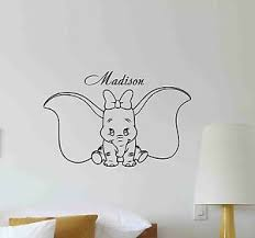 Personalized Name Dumbo Wall Decal Disney Nursery Vinyl Sticker Custom Decor 660 Ebay