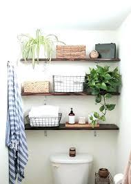 bathroom in wall shelves