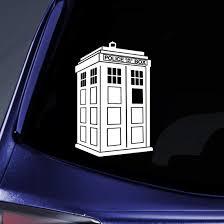 Amazon Com Whovian Police Box Tardis Sticker Decal Notebook Car Laptop 8 White Automotive