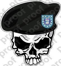 Sticker Us Army Beret Unit 3rd Infantry Division Skull M C Graphic Decals