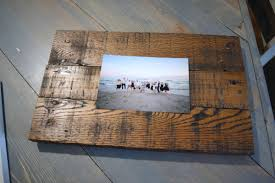 wooden picture frame with gl