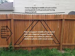 Top Rail On Wooden Fence Bending Downward Doityourself Com Community Forums