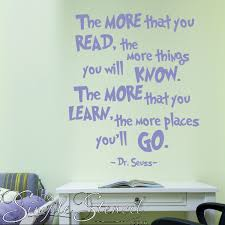 Dr Seuss Wall Quotes Decals Stickers And Other Wall Art For Child S Room Decor