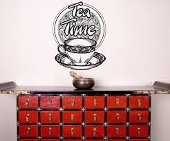 Vinyl Wall Decal Sticker Tea Time Os Aa1449 Stickerbrand